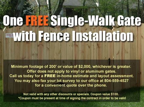 special deals  fencing  richmond fencing unlimited