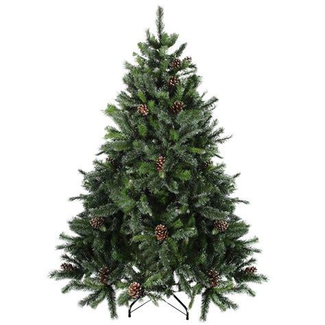 6 5 snowy delta pine with pine cones artificial christmas