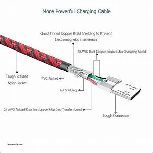 Usb To Micro Usb Diagram Cord Wire Diagram New Charger