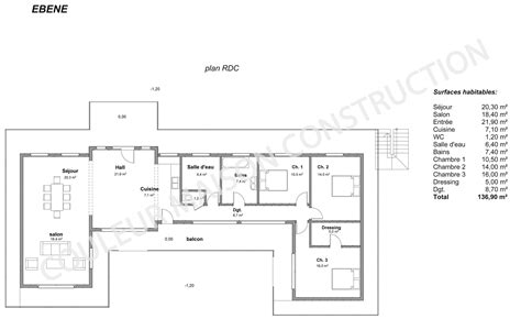 exemple de plan de maison a etage maison moderne