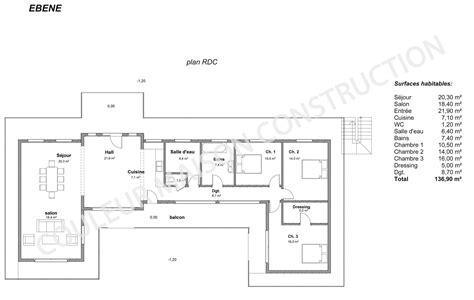 plan maison 150m2 4 chambres couleur maison construction le plan de maison de notre