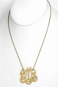 letter m monogram pendant necklace necklaces With letter m pendant necklace
