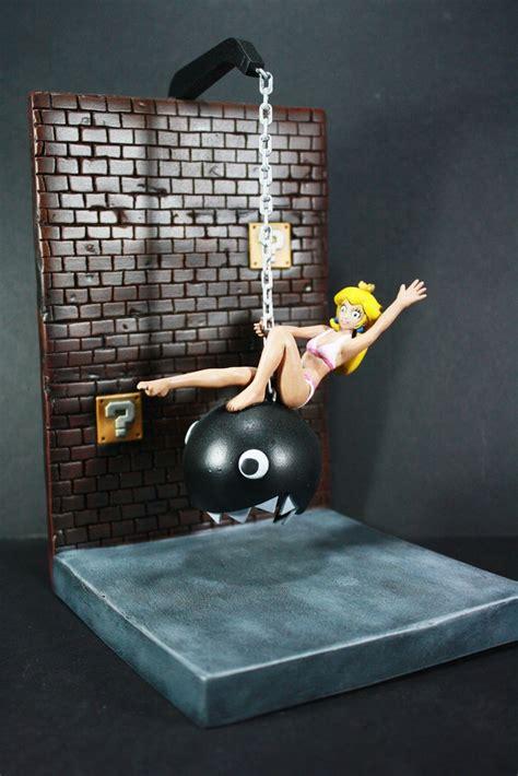 princess peach wrecking ball diorama chain chomp cyrus