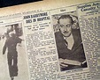 The death of actor John Barrymore... - RareNewspapers.com