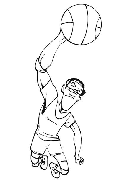 basketball player coloring pages  printable pictures