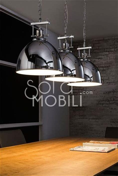 luminaire pour cuisine design luminaire suspension acier chromé industrielle cuisine