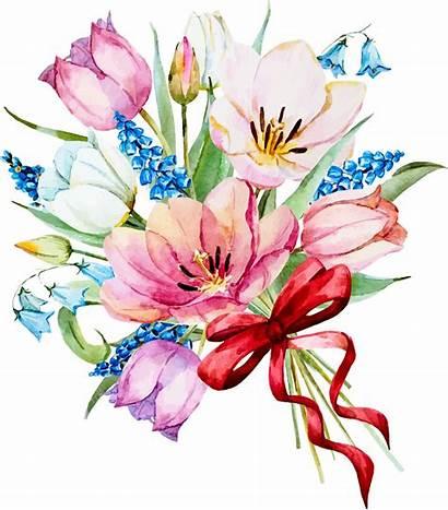 Flower Clipart Watercolor Spring Flowers Decoupage Burgundy