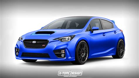 2017 subaru impreza hatchback wrx 2018 subaru impreza wrx sti rendered as a hatchback