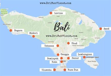 bali map   stay  bali favorite places