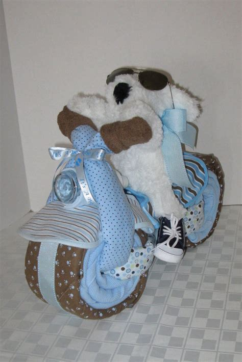 motorcycle baby shower motorcycle bike cake baby shower gift centerpiece