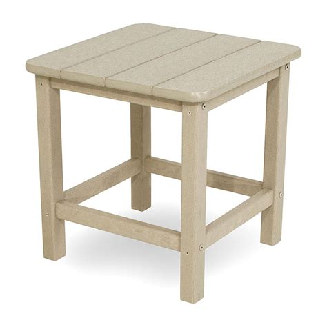 outdoor small square side or end table polywood seashell
