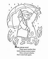 Rain Away Go Coloring Nursery Pages Rhyme Rhymes Printable Mother Goose Sheets Windu Mace Drawing Bluebonkers Preschool Crafts Songs Theme sketch template