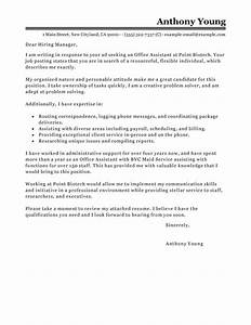 office assistant cover letter examples administration With cover letter for an office job