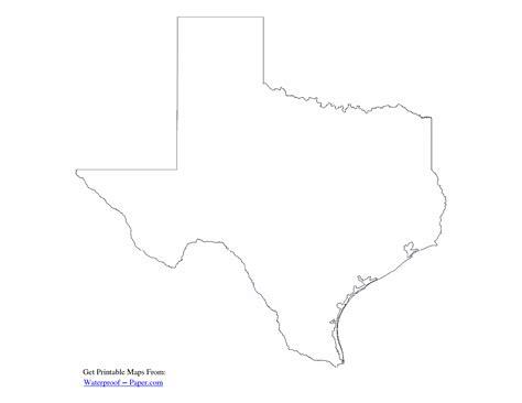 texas map template printable printableecom