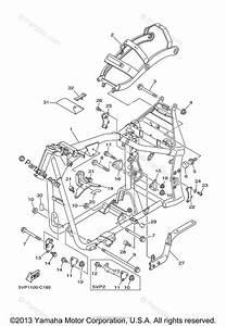 Yamaha Motorcycle 2004 Oem Parts Diagram For Frame