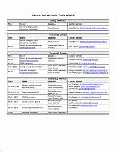 6 event schedule template bookletemplateorg With itenary template