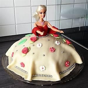 Rezept und Anleitung für eine Barbie Torte › Brotfrei