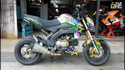Modification Kawasaki Z125 Pro by Kawasaki Z125 Pro Modifications 4 Kemimoto Parts