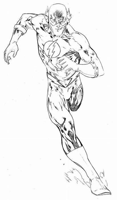 Coloring Flash Pages Superhero Running Sheets
