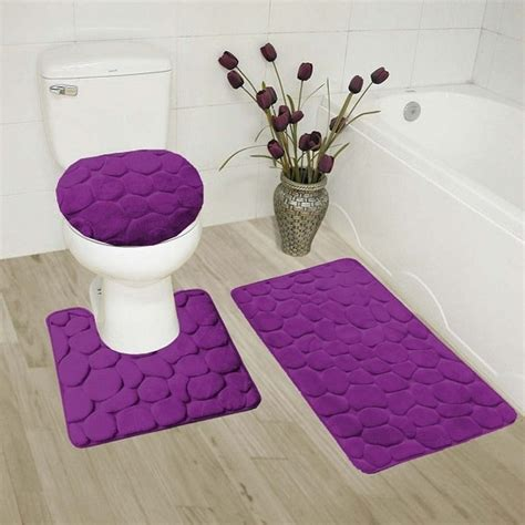recommended purple bathroom rug sets  buy