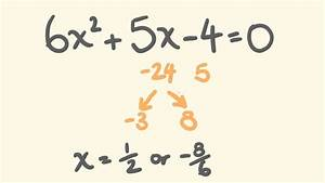 How to Factor any Quadratic Equation Easily - Trick for ...  Factor