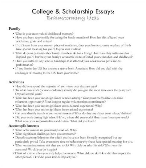 scholarship essay scholarship essays exle 7 free word pdf documents free premium templates