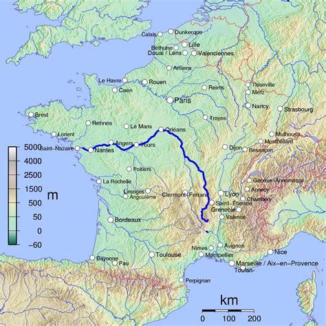 carte de la loire fleuve image carte et pr 233 sentation du fleuve