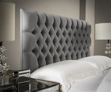 Black Leather Headboard Double by Chesterfield Headboard Upholstered Headboards Fr Sueno