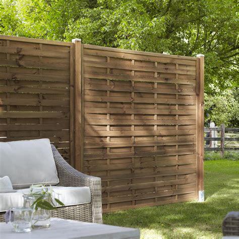 panneau bois jardin panneau bois plein mateo l 180 cm x h 180 cm marron leroy merlin