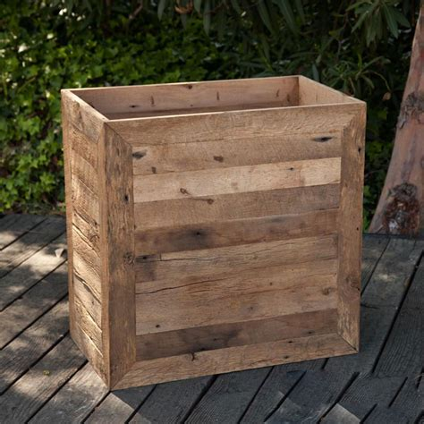 large planter box large planter boxes reclaimed wood
