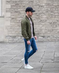 Mens-Fashion-Blogger-Topshop-Green-Bomber-Jacket-AG-Skinny-Jeans-Outfit u2013 Your Average Guy