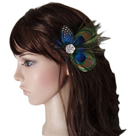 Cute Peacock Feather Hair Clip Cp Ebay