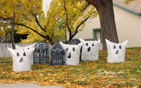 everyday art outdoor halloween decor ghost leaf bags