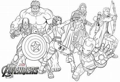 Avengers Endgame Coloring Marvel Pages Para Colorear