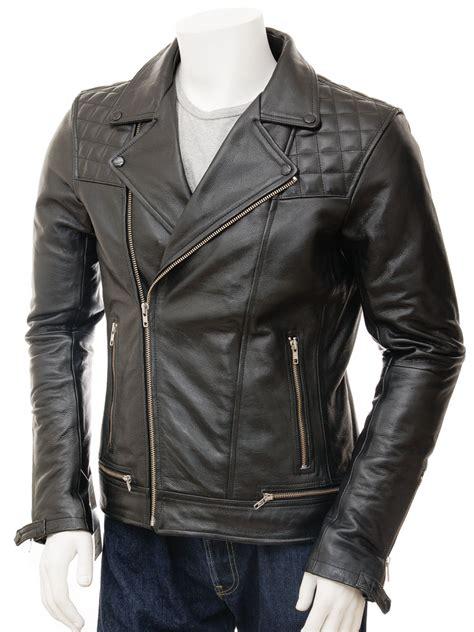 leather apparel mens biker leather jacket in black berners men caine