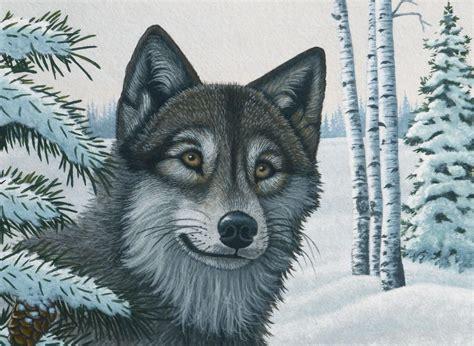 malen nach zahlen schnee wolf pjl royal langnickel