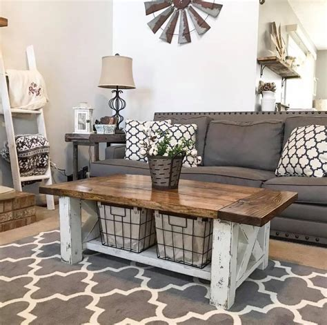 diy chunky farmhouse coffee table coffee table plans