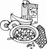 Breakfast Cereal Clip Clipart Clker Svg sketch template