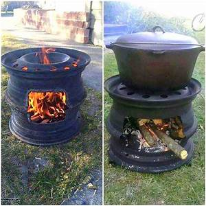 Recycled Car Wheel BBQ / Fire Pit Home Design, Garden & Architecture Blog Magazine