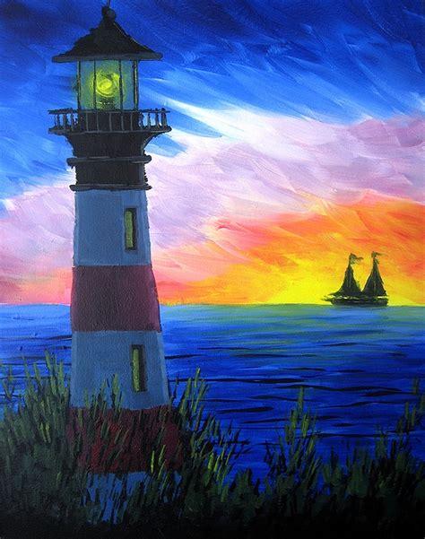 paint nite rainbow light house
