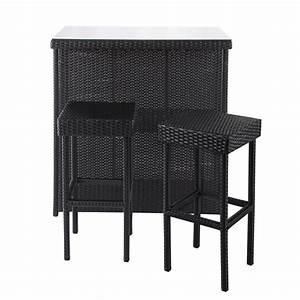 Bar Exterieur De Jardin : meuble de bar 2 tabourets de jardin en r sine tress e ~ Dailycaller-alerts.com Idées de Décoration