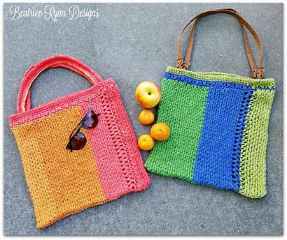 Crochet Bag Tote Stripe Beatriceryandesigns Pattern