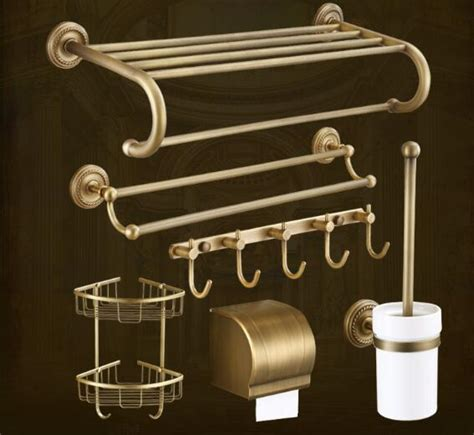 high quality solid brass bathroom accessories set