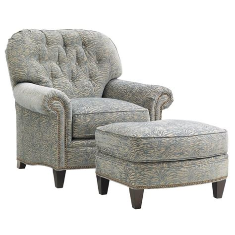 Chair With Ottoman by Oyster Bay Bayville Fabric Arm Chair With
