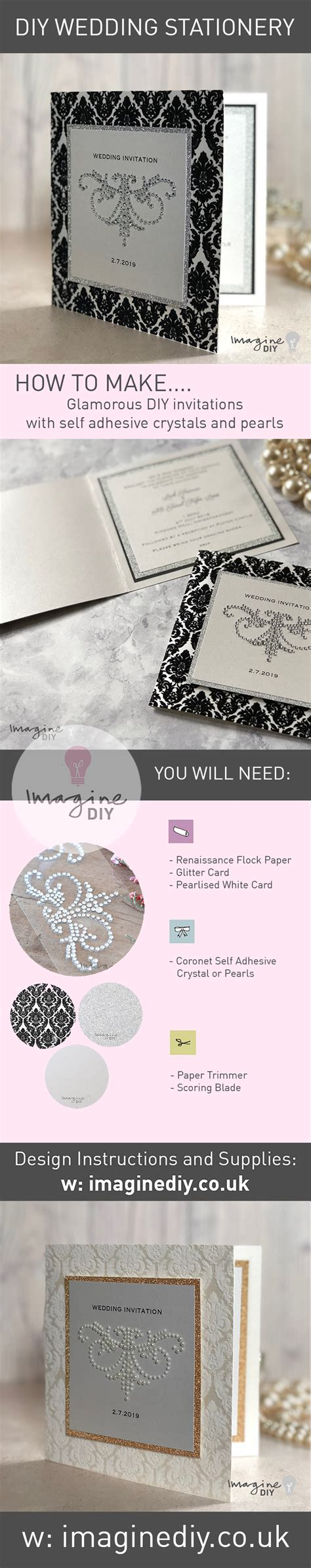 how to make glamorous diy wedding invitations with