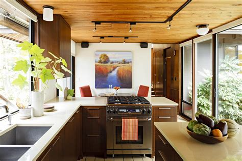 mid century modern kitchen ideas tips to remodel a small l shaped kitchen midcityeast