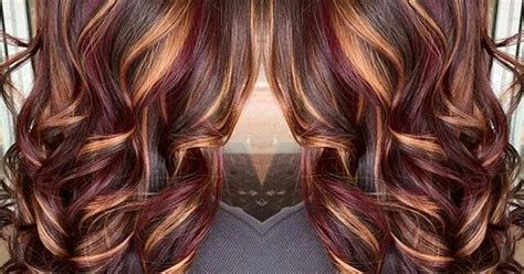 plum copper highlights chocolate brown base pinteres