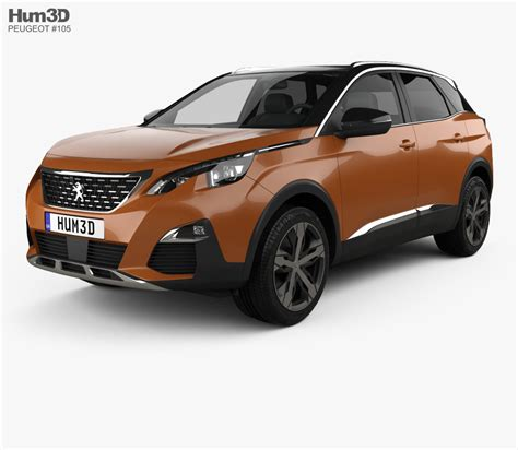 Peugeot Models by Peugeot 3008 2016 3d Model Vehicles On Hum3d