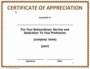 30 free certificate of appreciation templates and letters With recognition of service certificate template