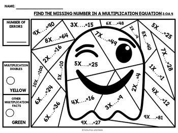 3rd grade math worksheet color by number math 3rd grade color by number by satsumas and